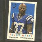 2013 Topps REGGIE WAYNE 1959 Mini - Colts & Miami Hurricanes