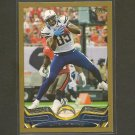 2013 Topps ANTONIO GATES Gold Border #/2013 - Chargers & Kent State