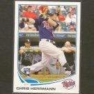 2013 Topps CHRIS HERRMANN Rookie Card RC - Minnesota Twins