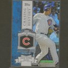 2013 Topps ANTHONY RIZZO Chasing History - Chicago Cubs
