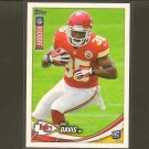 KNILE DAVIS 2013 Topps Rookie Kickoff RC - KC Chiefs & Arkansas Razorbacks