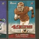 AJ A.J. JENKINS 2012 Bowman Rookie Card RC - KC Chiefs & Illinios Fighting Illini