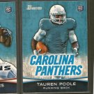 TAUREN POOLE 2012 Bowman Rookie RC - Carolina Panthers & Tenessee Volunteers