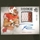 RUSSELL WILSON 2012 SP Authentic - Autograph 2-Color Relic RC - Seahawks & Badgers