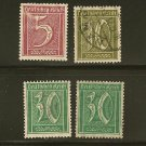 Germany Reich Postage Stamp Lot x13 - Scott # 137,138,141,200,203,204,205,206,281,284,285,286,