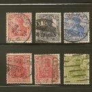 Germany Postage Stamp Lot x6 - Scott #83,84,100,124,126