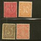 Germany Official Postage Stamp Lot x4 - Scott # O10,O13,O6,O21