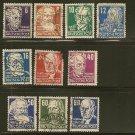 Germany Postage Stamp Lot x10 - OS2 Scott #10N30,10N31,10N32,10N33, 10N35, 10N37,10N40-43