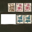 Germany Postage Stamp Lot x5 - A328 Scott #1075, 1079, 1080
