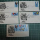 1983 US Postal Hot Air Balloons FDC Cachet Set of 5 - First Day Issue - Scott #2032,2033,2034,2035