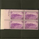 1937 US Postage Stamp 3 cent Plate Block - Puerto Rico - Scott #801