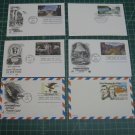 USPS Fleetwood, Artcraft Airmail Stationery Postal Card FDC First Day of Issue Lot x11