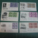US Postal FDC Cachet Artcraft Lot x12 - First Day Issue - Scott #1020,1022-1107