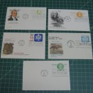 USPS Fleetwood/Artcraft Stationery Postal Card FDC First Day of Issue Lot x5
