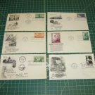 US Postal FDC Cachet Lot x12 -First Day Issue -Maryland,Washington,Oklahoma