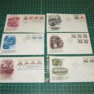 US Postal FDC Cachet Lot x10 -First Day Issue -Transportation Definitives