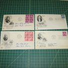 1950s Definitives USPS Artcraft FDC First Day of Issue Lot x7 - Blolcks of 4, Coils