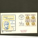 1960 USPS Tri Color FDC Scott #1166 Block of 4 - Washington, DC - Mannerheim -First Day of Issue
