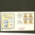 1960 USPS Tri Color FDC Scott #1166 Block of 4 - Washington, DC - Mannerheim -First Day of Issue