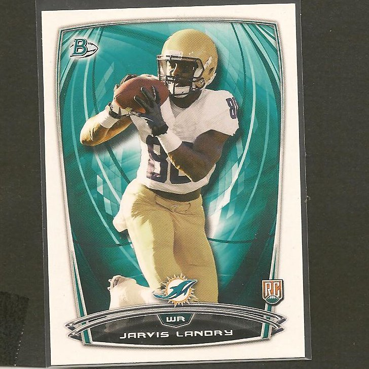 JARVIS LANDRY 2014 Bowman Rookie RC - LSU Tigers & Dolphins