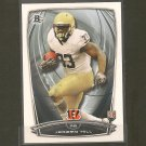 JEREMY HILL 2014 Bowman Rookie RC - LSU Tigers & Bengals