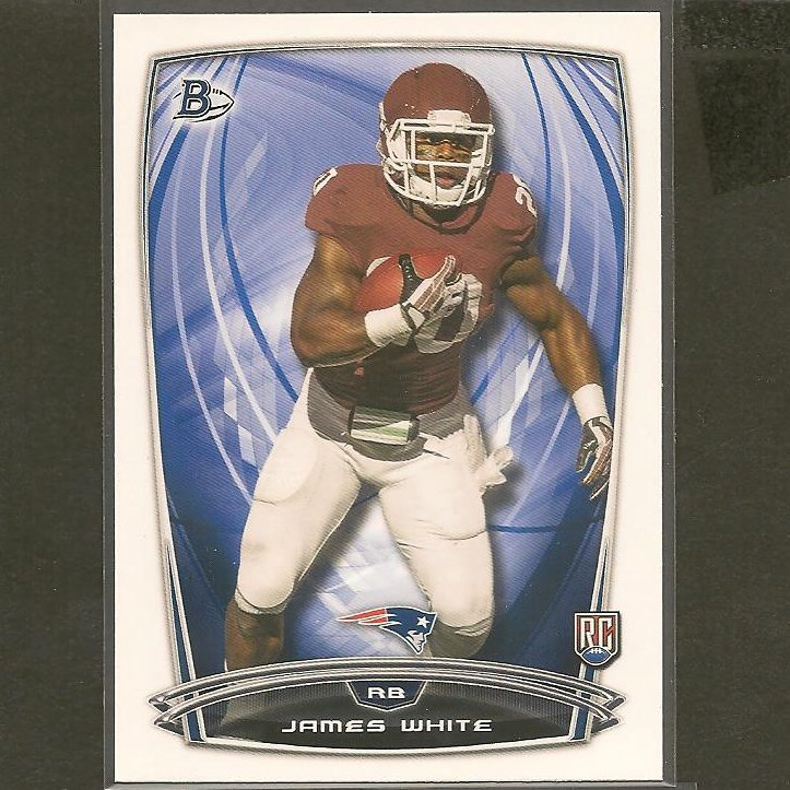 JAMES WHITE 2014 Bowman Rookie RC - Wisconsin Badgers & Patriots