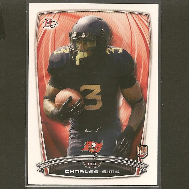 CHARLES SIMS 2014 Bowman Rookie RC - West Virginia & Buccaneers