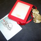 GORHAM Silver Plated Cat Christmas Ornament in Original Box