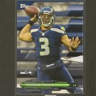 RUSSELL WILSON 2014 Topps Fantasy Strategy - Seahawks & Wisconsin Badgers