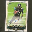 MARQISE LEE 2014 Topps Regular Issue Autograph RC - Jaguars & USC Trojans