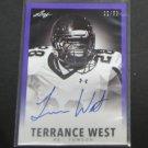 TERRANCE WEST 2014 Leaf Originals Rookie Autograph RC #22/50 - Titans & Towson Tigers