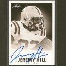 JEREMY HILL 2014 Leaf Originals 1960 Retro Autograph Rookie RC - LSU Tigers & Bengals