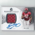 EDDIE LACY 2013 SP Authentic Autograph Jersey Rookie Card RC #/650 - Packers & Alabama Crimson Tide