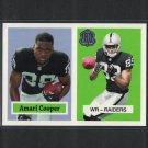 AMARI COOPER 2015 Topps 60th Anniversary Retro Rookie Card Alabama Crimson Tide & Oakland Raiders