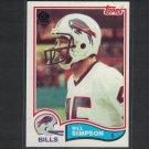 1982 BILL SIMPSON 2015 Topps 60th Anniversary BUYBACK Black Stamp - Buffalo Bills