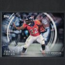 CJ ANDERSON 2015 Topps Fantasy Focus University of California & Denver Broncos