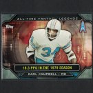 EARL CAMPBELL 2015 Topps All-Time Fantasy Legends Texas Longhorns & Houston Oilers