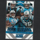 2015 CAROLINA PANTHERS Score Team Leaders Card - Cam Newton,Jonathan Stewart,Kelvin Benjamin