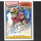 JAMISON CROWDER 2015 Topps 1987 Autographed Rookie RC #/250- Duke Blue Devils & Redskins