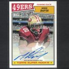 MIKE DAVIS 2015 Topps 1987 Autographed Rookie RC #/250- South Carolina Gamecocks & 49ers