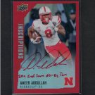 AMEER ABDULLAH - 2015 Upper Deck Inscriptions Autograph Rookie RED #/75 -Detroit Lions & Cornhuskers
