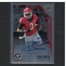 TODD GURLEY 2015 UD Inscriptions Autograph Rookie Card Georgia Bulldogs & St. Louis Rams
