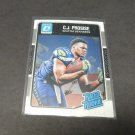 CJ PROSISE 2016 Donruss Optic Rated Rookie RC - Notre Dame & Seahawks