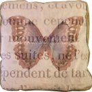 Cocoa Butterfly Accent Box Pillow