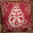 RED IKAT ACCENT PILLOW NEW