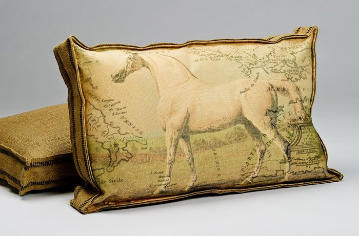 Equestrian Box Pillow B