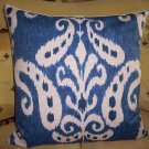 BRAND NEW IKAT ACCENT PILLOW COLOR DENIM