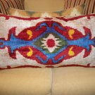XL Hand Loomed Vintage Ikat Pillow