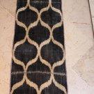 Vintage Black & Cream Buabler Silk Velvet