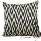 FLAME STITCH COTTON & SILK BLEND IKAT PILLOW